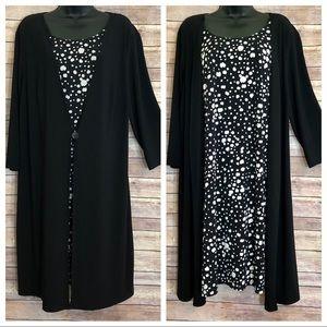 Lane Bryant Layered Black&White Dress Plus 18/20W